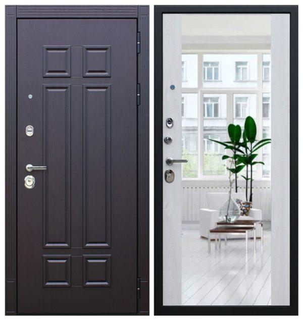 Входная дверь с зеркалом трехконтурная СП174