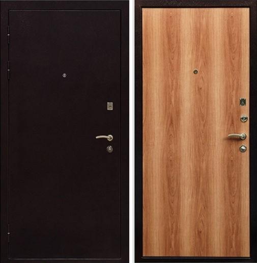 Входная металлическая дверь порошок и ламинат СП016
