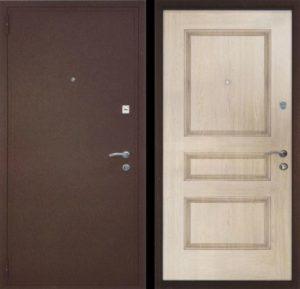 Входная металлическая дверь порошок + МДФ шпон СП062