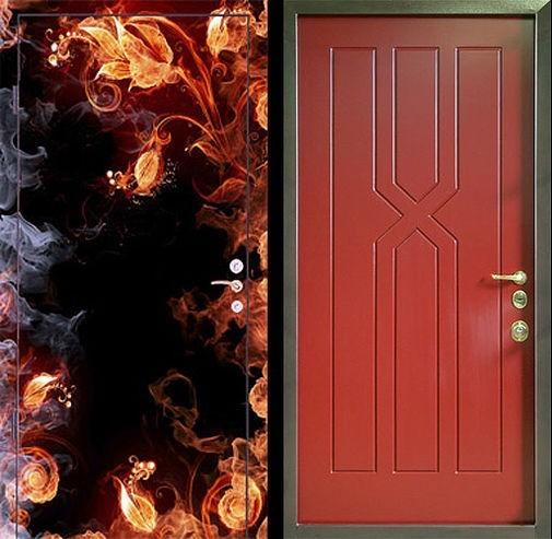 Входная металлическая дверь фотопечать и МДФ СП059