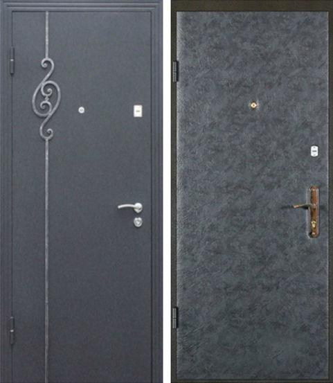 Входная металлическая дверь порошок + винилискожа СП047