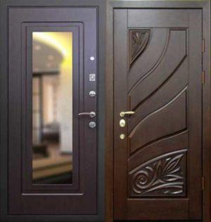 Входная металлическая дверь массив дуба СП074